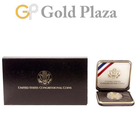 アメリカ議会200年記念コイン 5ドル金貨 1789-1989年 K21.6 8.359g コレクターズアイテム【中古】