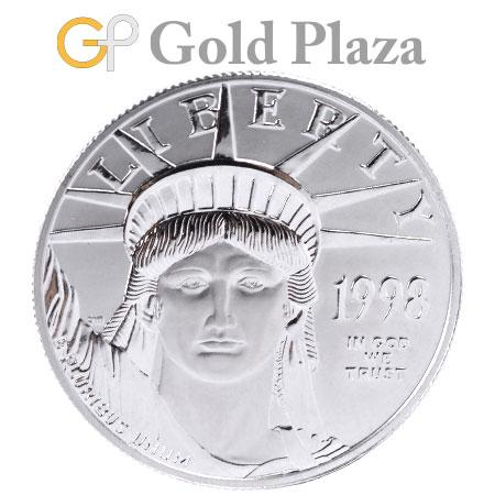 プラチナ イーグル コイン リバティー 1オンス PT1000 31.1g 100ドル 1998年 コレクターズアイテム
