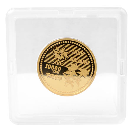 長野オリンピック冬季競技大会記念貨幣 一万円金貨幣 純金 K24 15.6g 1998年 コレクターズアイテム