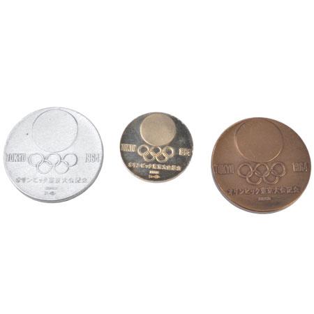 オリンピック東京大会記念メダル 1964年(昭和39年) 金(K18) 銀(SV925) 銅 メダルセット 東京オリンピック コレクターズアイテム