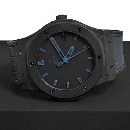 quality design 0d503 e35a3 ウブロ HUBLOTオートマチック腕時計 クラシックフュージョン オールブラックブルー511.CI.1190.GR.ABB10メンズ 6か月動作保証付  代引きでのカード払い不可【中古】|ゴールドプラザ楽天市場店
