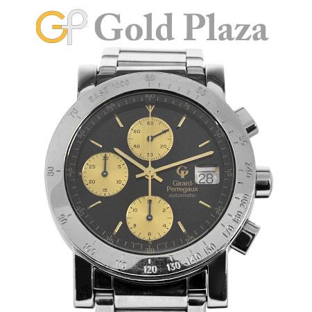 ジラールペルゴ GIRARD PERREGAUX 【OH済】 GP7000 自動巻き 腕時計 クロノグラフ ステンレススチール メンズ Ref.70016.1.11.64136か月動作保証付 代引きでのカード払い不可【中古】
