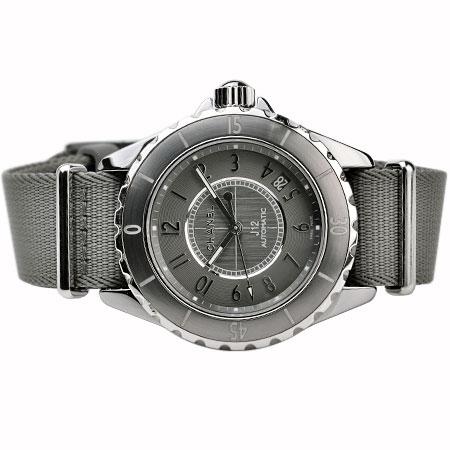 シャネル CHANEL J12 G.10 H4187 チタン・セラミック 替ベルト付 自動巻 腕時計 38mm メンズ グレー6か月動作保証付 代引きでのカード払い不可【中古】
