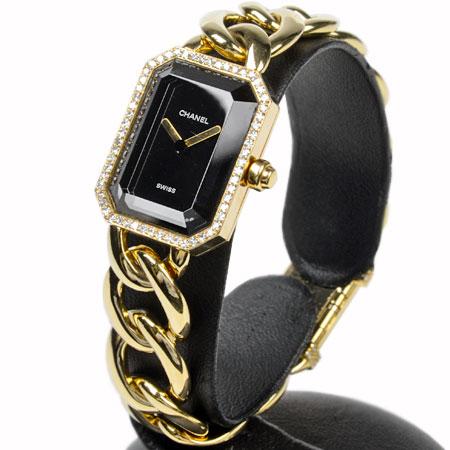 【ご予約品】 シャネル CHANEL プルミエール XL ダイヤベゼル H0113 イエローゴールド チェーン クオーツ式腕時計 仕上げ 電池交換済 K18YG 82.5g レディース 6か月動作保証付 きでのカード払い【】, 若葉区 40765216