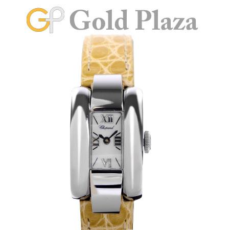 ショパール Chopard ラ ストラーダ LA STRADA 41/8443 新品仕上げ・電池交換済 クオーツ式 腕時計 ステンレス シェル文字盤 クロコベルト 6か月動作保証付【中古】