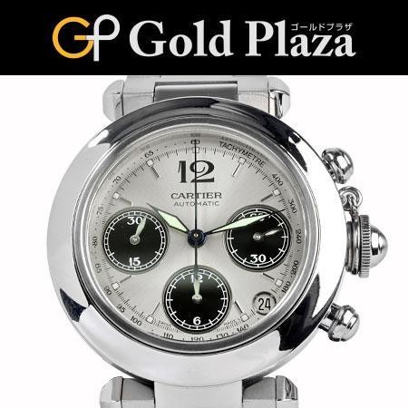 カルティエ Cartier パシャC クロノグラフ W31048M7 自動巻 腕時計 35mm ボーイズ 6か月動作保証付【中古】