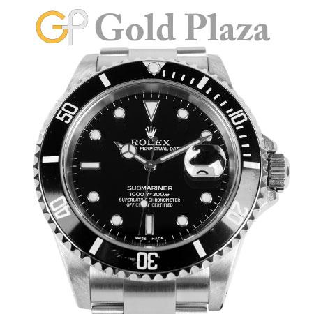 ロレックス ROLEX 【OH・仕上げ済】 サブマリーナ デイト16610 P番 ブラック ステンレス メンズ 腕時計 自動巻き 6か月動作保証付 代引きでのカード払い不可【中古】