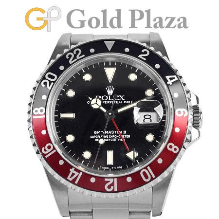 ロレックス ROLEX 【OH/仕上げ済】 GMTマスター2 16710 S番 赤黒ベゼル ステンレス メンズ 腕時計 自動巻き ブラック文字盤 【中古】