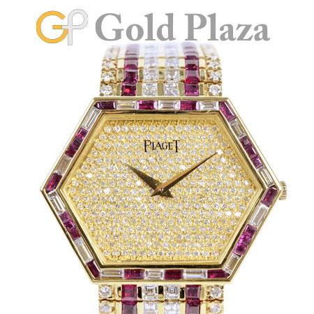 最先端 ピアジェ PIAGET アフター パヴェ ダイヤモンド ルビー メンズ ボーイズ 手巻き 腕時計 K18YG 9578【】, ウラカワチョウ d837481d