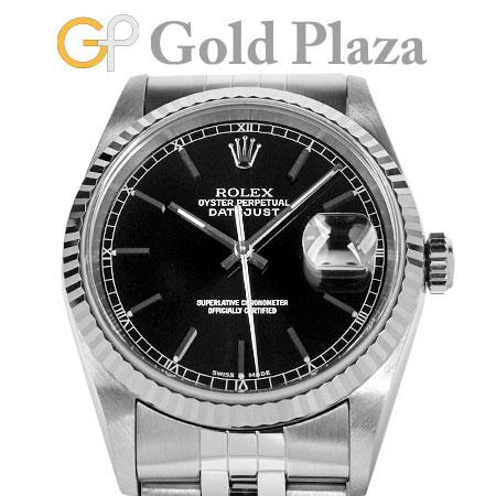 ロレックス ROLEX デイトジャスト 16234 P番 自動巻き 腕時計 ブラック ダイヤル SS×WG メンズ 6か月動作保証付 代引きでのカード払い不可【中古】