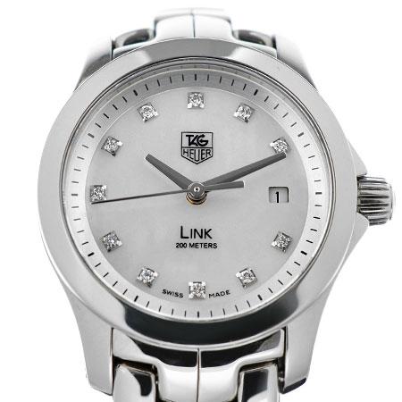 タグホイヤー TAG Heuer リンク 11P ダイヤモンド SS ホワイトシェル文字盤 レディース 腕時計 クォーツ WJF1317.BA0572【中古】