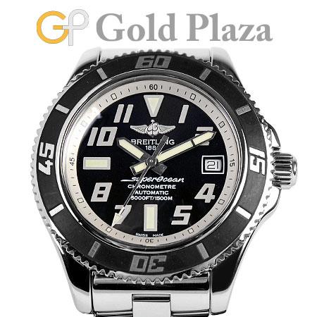 ブライトリング BREITLING スーパーオーシャン 42 A17364 SS 腕時計 メンズ 自動巻 ブラック文字盤【中古】