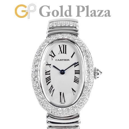 【現金特価】 カルティエ Cartier ベニュワール アフター ダイヤモンド K18WG クォーツ レディース 腕時計 シルバー文字盤 WB5097L2 1955【】, タイムリーファッションストア de8b60d4
