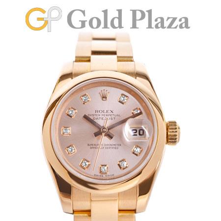 【先着!!クーポンで最大3万円オフ!12/1-3】ロレックス ROLEX デイトジャスト 179165G Y番 10P ダイヤモンド ピンク文字盤 K18PG 自動巻き レディース 腕時計【中古】