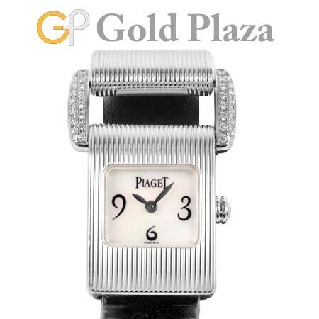 ピアジェ PIAGET ミスプロトコール G0A24059 ラグ ダイヤモンド K18WG 腕時計 クォーツ マザーオブパール アラビア 替えストラップ付【中古】