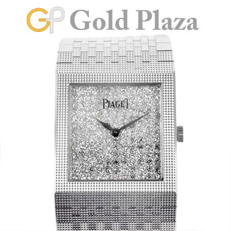 ピアジェ PIAGET ダイヤ文字盤 トラディション 手巻き式 腕時計 スクエア K18WG Ref.9131/04 レディース【中古】