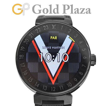【先着!!クーポンで最大3万円オフ!6/1~3】ルイヴィトン LOUIS VUITTON タンブール ホライゾン QA002Z ラバーストラップ ステレンス(PVD加工) 腕時計 コネクテッド スマートウォッチ【中古】