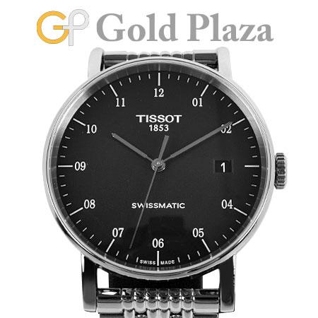 ティソ TISSOT エブリタイム スイスマティック メンズ 腕時計 自動巻き ブラック文字盤 T109.407.11.031.00 T クラシック【中古】