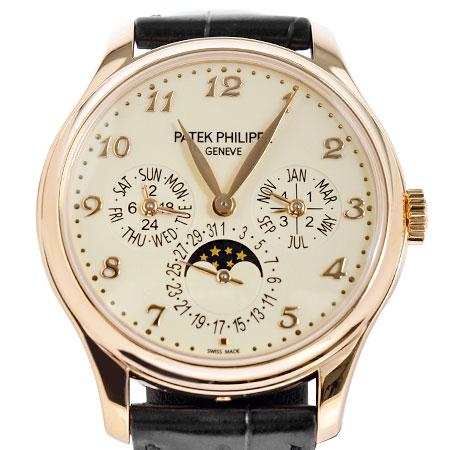 パテックフィリップ PATEK PHILIPPE グランド コンプリケーション 永久カレンダー 5327R-001 K18RG Dバックル 革ベルト メンズ 腕時計 自動巻き アイボリー文字盤 ムーンフェイズ【中古】