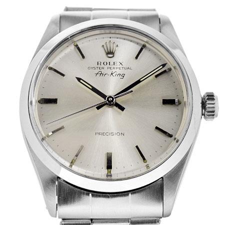 ロレックス ROLEX エアキング 5500 14番 シルバー文字盤 メンズ 腕時計 自動巻き SS【中古】