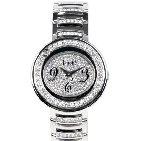 ピアジェ PIAGET ポセション ダイヤモンド ベゼル レディース 腕時計 クォーツ K18WG ダイヤ文字盤 P10275【中古】