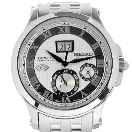 セイコー SEIKO プルミエ キネティック パーペチュアル メンズ 腕時計 SS SNP047P1【中古】