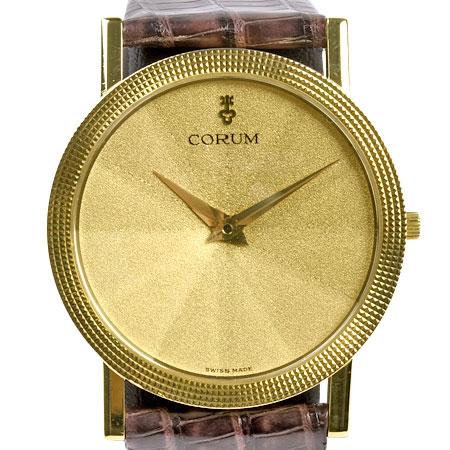 コルム CORUM オリンポス K18YG メンズ クォーツ 時計 ゴールド文字盤 50.137.56【中古】