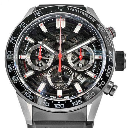 タグホイヤー TAG Heuer カレラ クロノグラフ SS×セラミック メンズ 時計 自動巻き スケルトン CBG2010.FT6143【中古】