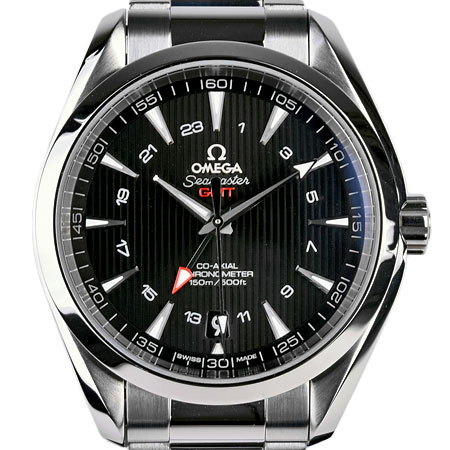 オメガ OMEGA シーマスター アクアテラ コーアクシャル GMT 43mm 150M SS メンズ 時計 自動巻き 黒文字盤 231.10.43.22.01.001【中古】