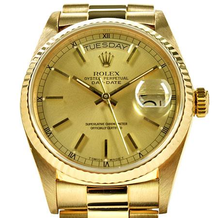 ロレックス ROLEX デイデイト 18038 91番 K18YG 自動巻き メンズ 時計 シャンパン文字盤【中古】