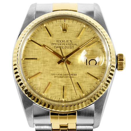 ロレックス ROLEX デイトジャスト 16013 73番 メンズ 自動巻き 腕時計 ゴールドモザイク文字盤 SS×YG【中古】