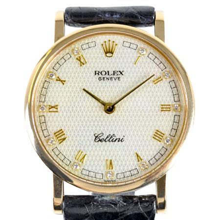 ロレックス ROLEX チェリーニ 11P ダイヤモンド 5109/8 N番 レディース 腕時計 手巻き ホワイトシェル文字盤【中古】