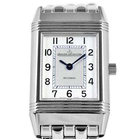 ジャガールクルト JAEGER LECOULTRE レベルソ SS レディース 腕時計 クォーツ シルバー文字盤 Q2618110【中古】