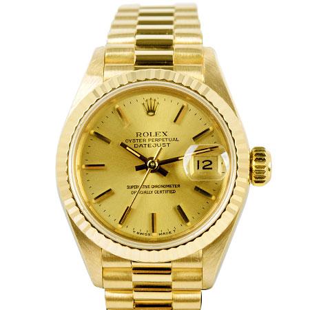ロレックス ROLEX デイトジャスト 69178 9番 自動巻 レディース 腕時計 K18YG シャンパン文字盤【中古】