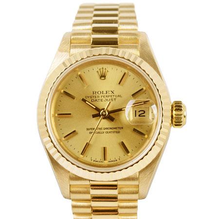 ロレックス ROLEX デイトジャスト 69178 95番 自動巻 レディース 腕時計 K18YG シャンパン文字盤【中古】