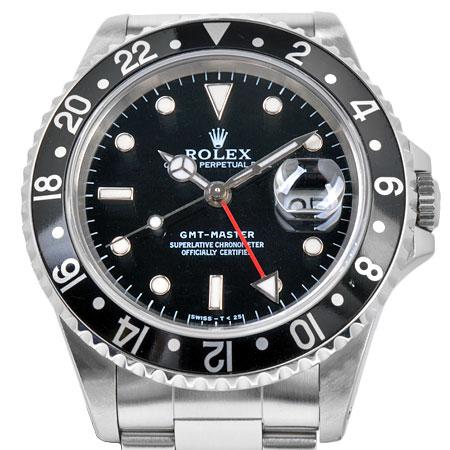 ロレックス ROLEX GMTマスターI 16700 T番 ブラック SS 自動巻き メンズ 時計【中古】
