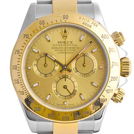 ロレックス ROLEX コスモグラフ デイトナ 116523 Y番 自動巻き メンズ 腕時計 ゴールド文字盤 SS×YG【中古】