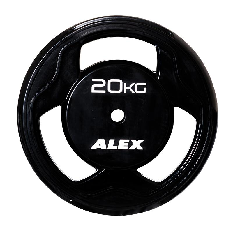 ALEX社製 【Φ28mmバーベルプレート】 20kg BPRラバープレート BPR-20【日本総代理店】