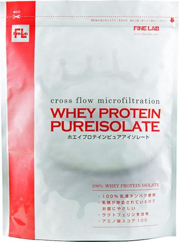 【ボディマネジメント系サプリメント】 ファインラボ ホエイプロテイン ピュアアイソレート 4.5kg(味はプレーンのみ)