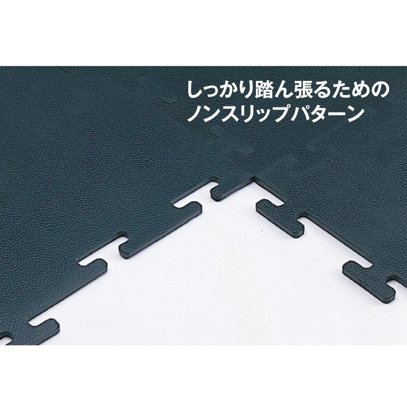 IVANKO(イヴァンコ)社製 インターロック式ラバーフロア 11mm厚 ブラック【センター CTR-4】