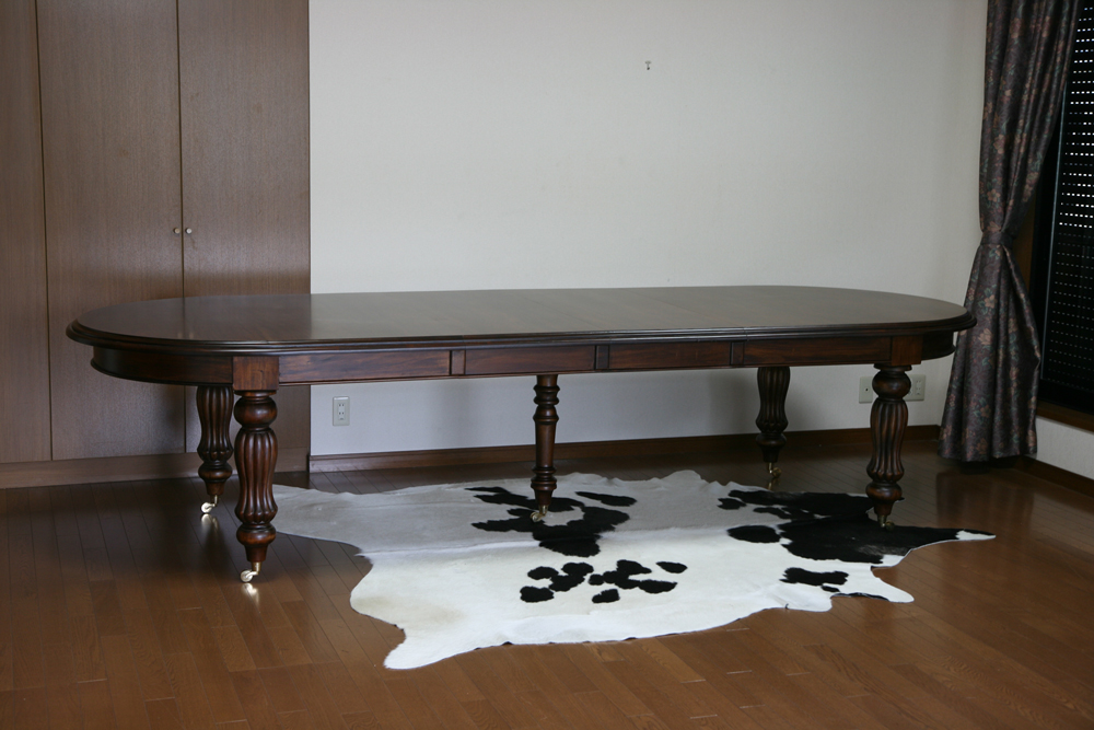 送料無料 新品 マホガニー 無垢材 会議テーブル ダイニングテーブル エクステンションテーブル DTE04/330
