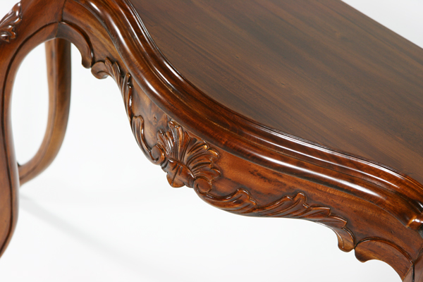 New ♢ Mahogany Solid Wood Victorian Console Table Side Table Flower  Completed ♢ ST