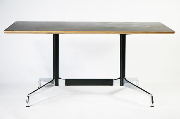 送料無料 訳あり イームズ セグメンテッドベーステーブル イームズテーブル アルミナムテーブル W160×D90×H74 cm ウォールナット TA