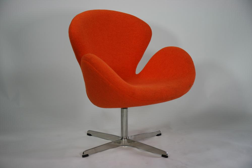 送料無料 新品 スワンチェア・オレンジ(Swan Chair,ORANGE) ORANGE