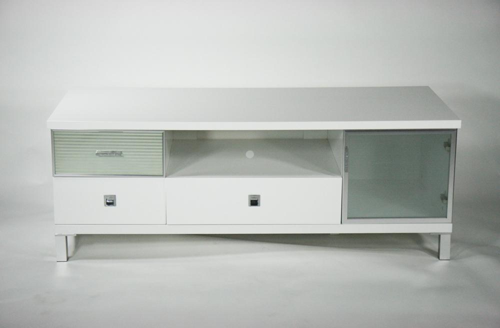 送料無料 新品 ピアノ塗装 液晶 ローボード テレビ台 ホワイト 完成品 332