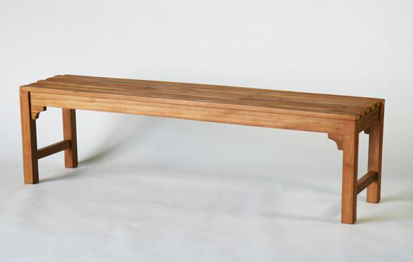 送料無料 新品 チーク材 チーク無垢 ガーデンベンチ ベンチ 160x40x45(cm) ライトブラウン