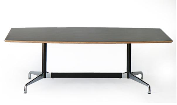 送料無料 訳あり イームズ セグメンテッドベーステーブル イームズテーブル アルミナムテーブル 舟型 W220×D120×H74 cm ブラック