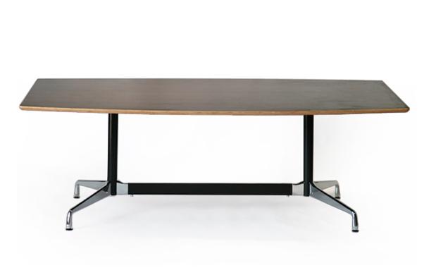 送料無料 訳あり イームズ セグメンテッドベーステーブル イームズテーブル アルミナムテーブル 舟型 W220×D120×H74 cm ウォールナット