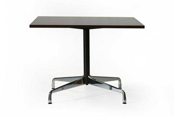 送料無料 新品 イームズ コントラクトベーステーブル コントラクトテーブル イームズテーブル アルミナムテーブル カフェテーブル W100×D100×H74 cm スクエア ウォールナット ST