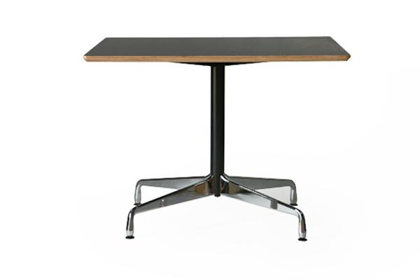 送料無料 新品 イームズ コントラクトベーステーブル コントラクトテーブル イームズテーブル アルミナムテーブル カフェテーブル W100×D100×H74 cm スクエア ウォールナット TA